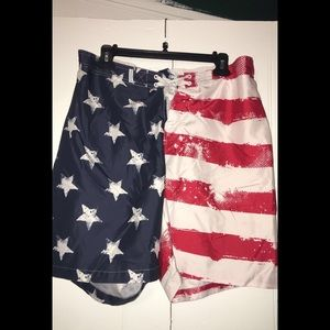 Men's Flag Swim Trunks
